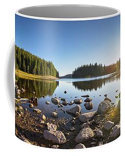 Sunny Landscape Of A Mountain Lake Coffee Mug