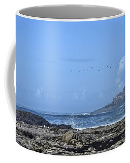 Coffee Mug featuring the photograph Sunny Morning At Roads End by Peggy Hughes