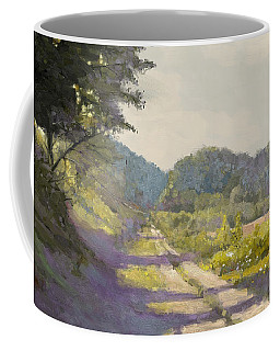 Sunny Road To The Forest Coffee Mug