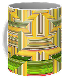 Coffee Mug featuring the digital art Sunny Side Abstract Wide by Chuck Staley