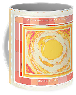 Coffee Mug featuring the photograph Sunny Side Up Breakfast by Shirley Moravec