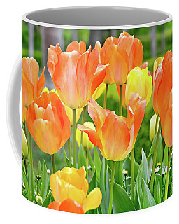Coffee Mug featuring the photograph Sunny Tulips by David Lawson