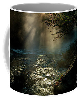 Sunrays At Fork River Coffee Mug by Iris Greenwell