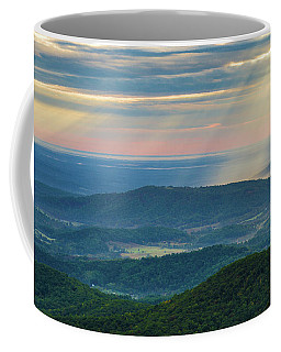 Coffee Mug featuring the photograph Sunrays Over The Blue Ridge Mountains by Lori Coleman