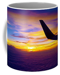 Sunrise Above The Clouds Coffee Mug by Judi Saunders