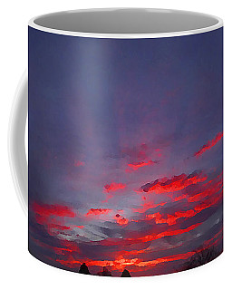 Sunrise Abstract, Red Oklahoma Morning Coffee Mug