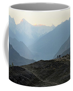 Sunrise Among The Karakoram Mountains In Hunza Valley Pakistan Coffee Mug