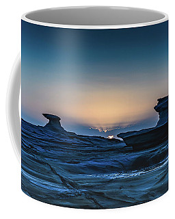 Sunrise And Rock Platform Landscape Coffee Mug
