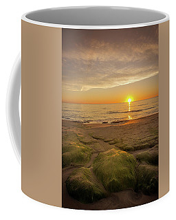 Sunrise And Rocks. Coffee Mug