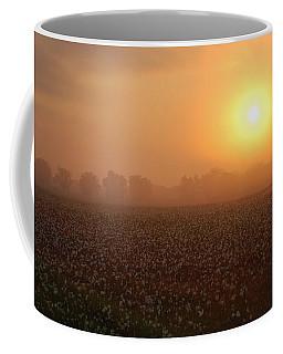 Sunrise And The Cotton Field Coffee Mug