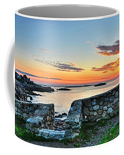 Sunrise At Castle Rock Marblehead Ma Coffee Mug