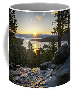 Coffee Mug featuring the photograph Sunrise At Emerald Bay In Lake Tahoe by James Udall