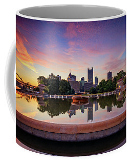 Coffee Mug featuring the photograph Sunrise At Point State Park by Emmanuel Panagiotakis