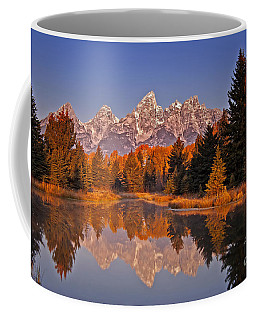 Sunrise At Schwabacher Landing  Coffee Mug