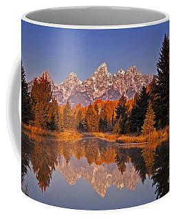 Sunrise At Schwabacher Landing  Coffee Mug