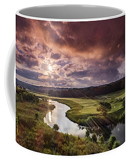 Sunrise At The Course Coffee Mug