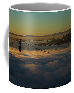 Coffee Mug featuring the photograph Sunrise At The Golden Gate by David Bearden