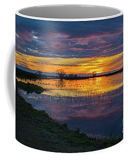 Sunrise At The Merced National Wildlife Refuge Coffee Mug