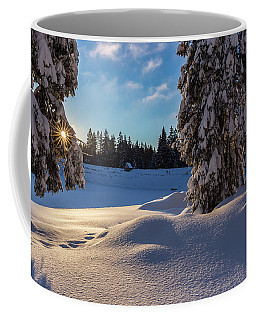 sunrise at the Oderteich, Harz Coffee Mug by Andreas Levi