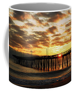 Sunrise At The Pier Coffee Mug by James Kirkikis