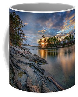Sunrise At Wolfe's Neck Woods Coffee Mug by Rick Berk