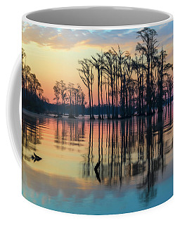 Coffee Mug featuring the photograph Sunrise, Bald Cypress Of Nc  by Cindy Lark Hartman