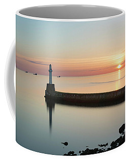 Sunrise Behind South Breakwater Coffee Mug