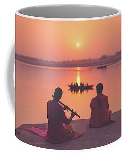 Sunrise By The Ganges Coffee Mug