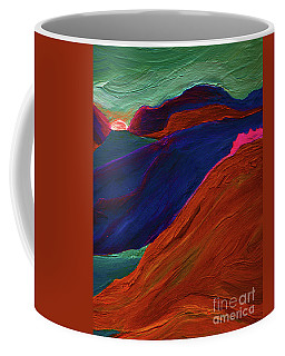 Coffee Mug featuring the painting Sunrise Castle 2  by First Star Art