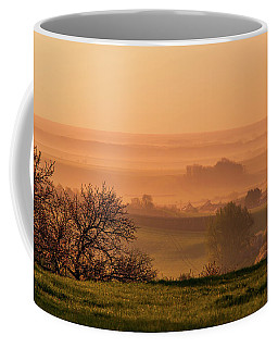 Coffee Mug featuring the photograph Sunrise Foggy Valley by Jenny Rainbow