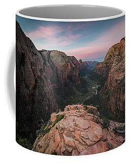 Coffee Mug featuring the photograph Sunrise From Angels Landing by James Udall