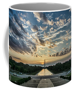 Sunrise From The Steps Of The Lincoln Memorial In Washington, Dc  Coffee Mug
