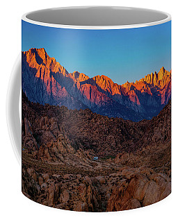 Sunrise Illuminating The Sierra Coffee Mug