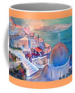 Sunrise In Oia Santorini Greece Coffee Mug