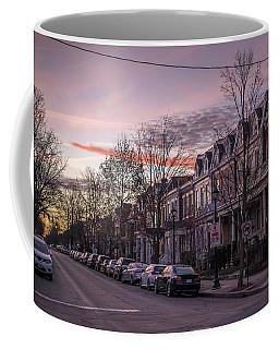 Sunrise In The Fan Coffee Mug