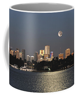 Sunrise Moon Over Miami Coffee Mug