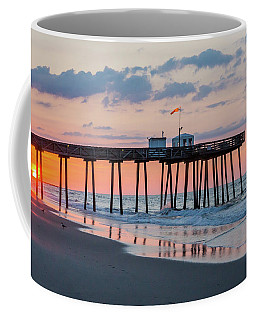 Sunrise Ocean City Fishing Pier Coffee Mug by Photographic Arts And Design Studio