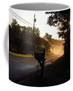 Sunrise On A Country Road Coffee Mug