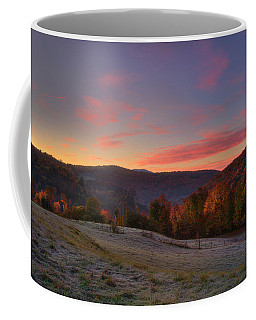 Coffee Mug featuring the photograph Sunrise On Jenne Farm - Vermont Autumn by Joann Vitali