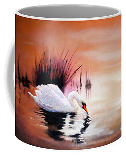 Sunrise On Swan Lake Coffee Mug