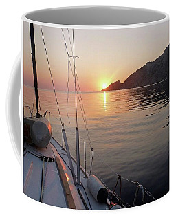 Coffee Mug featuring the photograph Sunrise On The Aegean by Christin Brodie