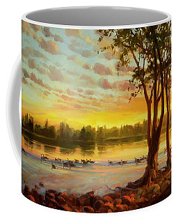 Sunrise On The Columbia Coffee Mug