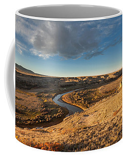 Coffee Mug featuring the photograph Sunrise On The Milk River by Fran Riley
