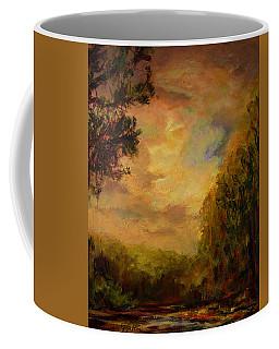 Sunrise On The River Coffee Mug