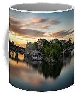 Coffee Mug featuring the photograph Sunrise On The Seine by James Udall