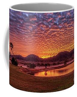 Coffee Mug featuring the photograph Sunrise Over Gila Mountain Range by Robert Bales