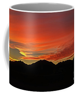 Coffee Mug featuring the photograph Sunrise Over Gila Mountains by Robert Bales