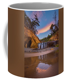 Coffee Mug featuring the photograph Sunrise Over Hug Point by Darren White