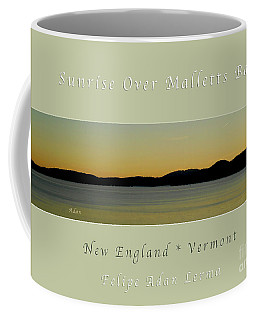 Sunrise Over Malletts Bay Greeting Card And Poster - Six V4 Coffee Mug