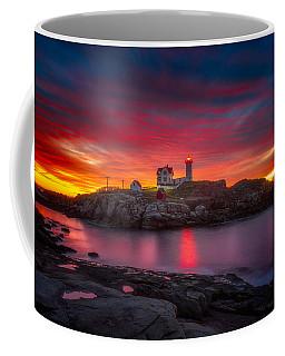 Sunrise Over Nubble Light Coffee Mug